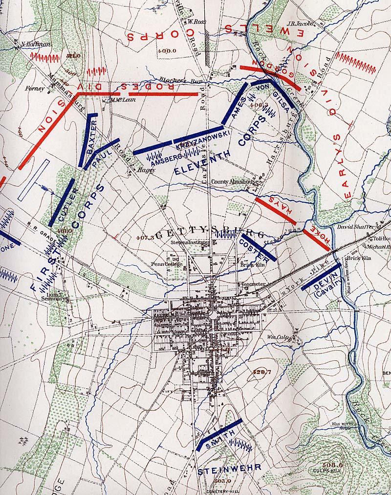 Battle Of Gettysburg Day 1 For Kids